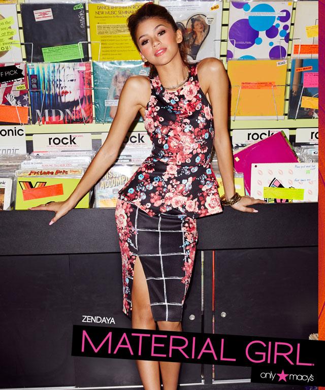Zendaya in Material Girl Campaign
