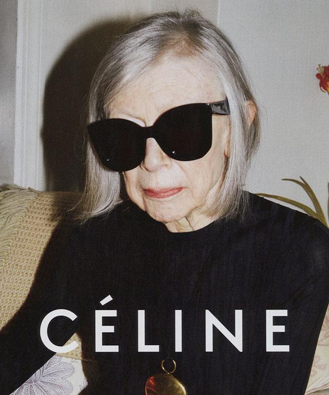 Joan Didion in Celine Ad Campaign