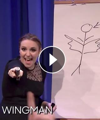 Lena Dunham Tonight Show Pictionary