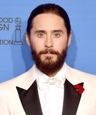 Jared Leto Wears Man Braid at 2015 Golden Globe Awards