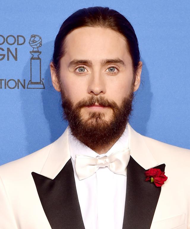 Jared Leto Wears Man Braid at 2015 Golden Globe Awards
