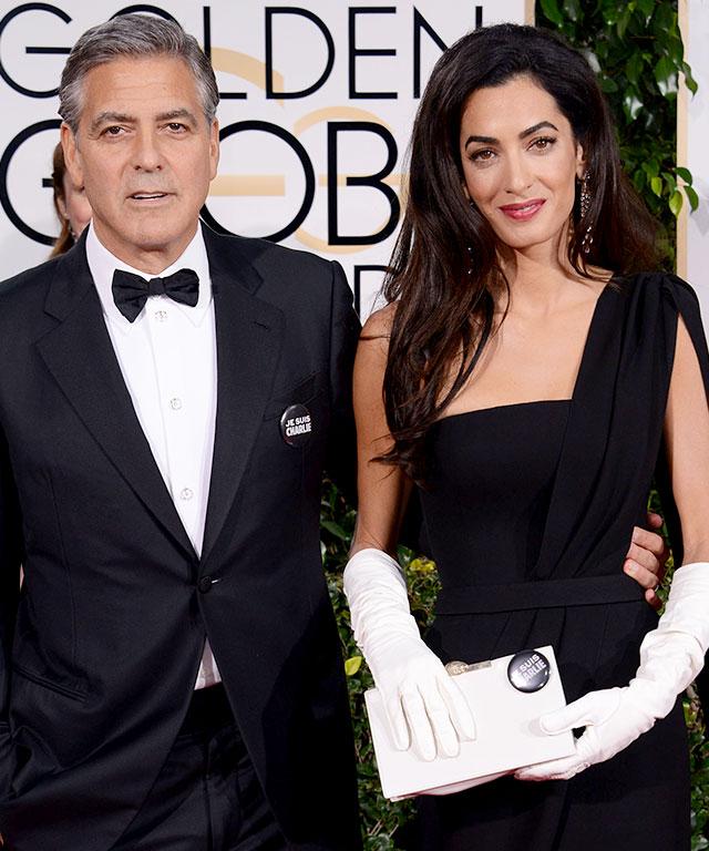 Celebrities Support 'Je Suis Charlie' at Golden Globes