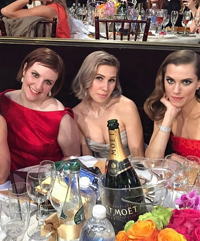 2015 Golden Globes Celebrity Instagrams