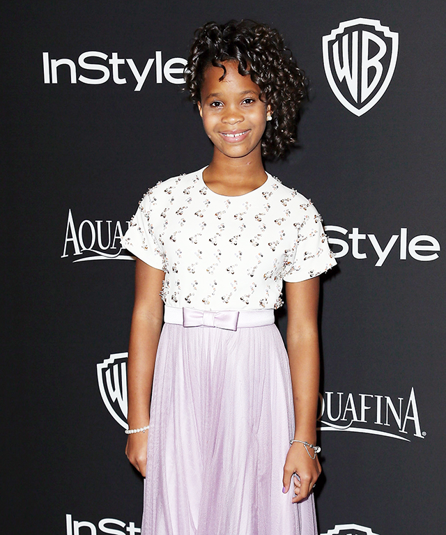Quvenzhane Wallis at the 2015 Golden Globe Awards