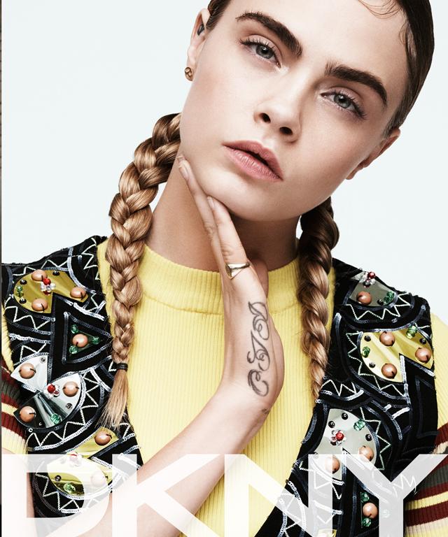 Cara Delevingne for DKNY Spring 2015