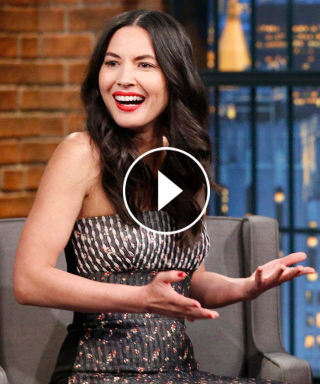 Olivia Munn Seth Meyers dog obsession