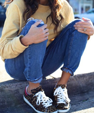 Celebs Wearing Isabel Marant Cheetah Sneakers