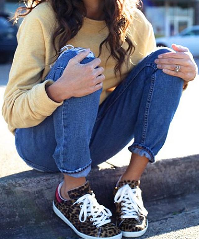 Celebs Wearing Isabel Marant Cheetah Sneakers