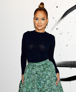 Jennifer Lopez in circle skirts