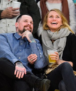 Cameron Diaz Benji Madden Lakers Game