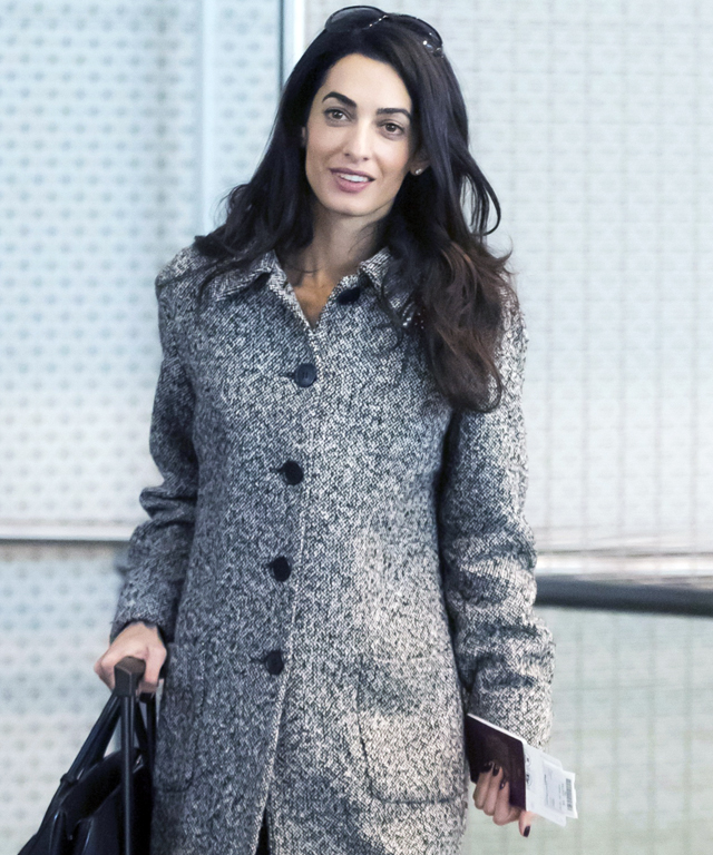 Amal Clooney at Paris Airport