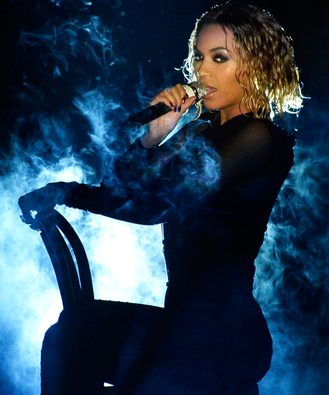 Beyonce Performing at the Grammys