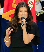 Idina Menzel at Super Bowl