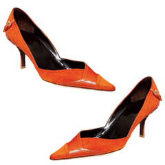 Details - The Ultimate Shoe Guide - Product Finder - Products - In Style :  orange kitten heels