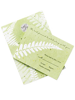 InStyleWeddings.com: Celebrity: Aisle Style :  invitations stationery green eco friendly