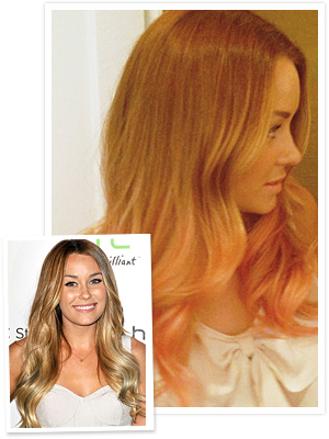 Lauren Conrad Peach Hair