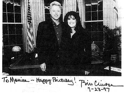 INTERNGATE photo   Bill Clinton, Monica Lewinsky