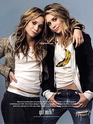 MILKING IT  photo | Ashley Olsen, Mary-Kate Olsen
