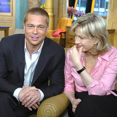 MAY 3: NEW YORK  photo | Brad Pitt, Diane Sawyer