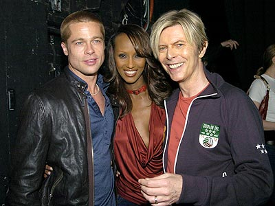 MAY 3: NEW YORK  photo | Brad Pitt, David Bowie