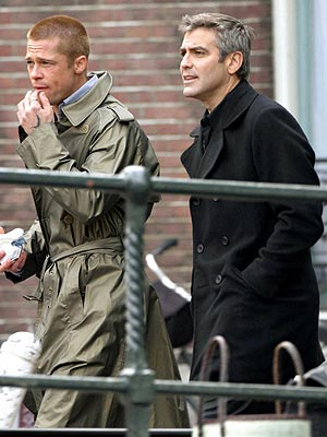 MAY 5: AMSTERDAM  photo | Brad Pitt, George Clooney