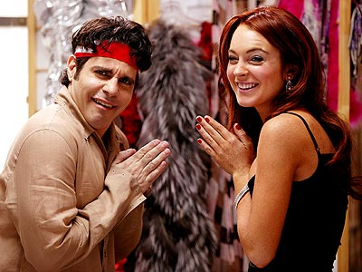 HOSTESS WITH THE MOSTEST  photo | Lindsay Lohan, Mario Cantone