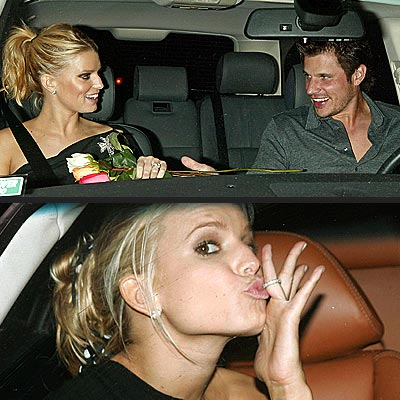 WITH THIS RING ...  photo | Jessica Simpson, Nick Lachey