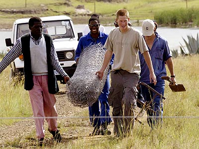 WORK BEGINS photo | Prince Harry