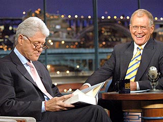 Clinton Delivers Baby Gift to Letterman