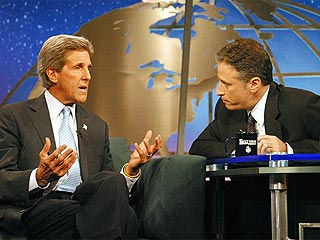 John Kerry Trades Quips with Jon Stewart