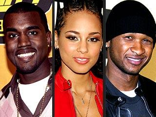 Kanye West, Alicia, Usher Lead Grammy Noms | Alicia Keys, Kanye West, Usher