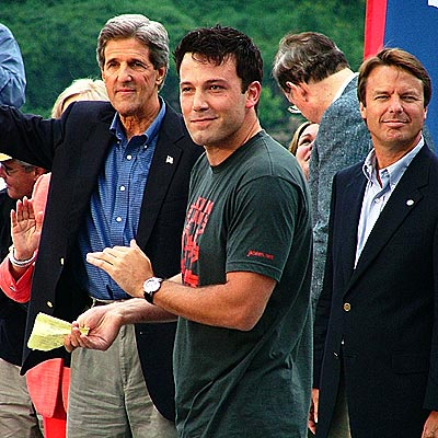 POLITICAL PARTY photo | Ben Affleck, John Edwards, John Kerry