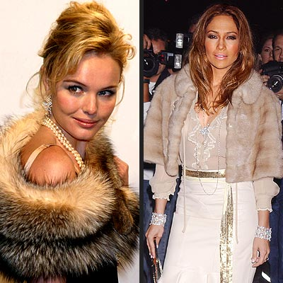 HOLIDAY TREND: FUR photo | Jennifer Lopez, Kate Bosworth