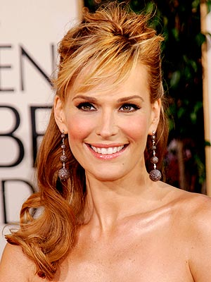 Celebrity Molly Sims long hairstyles. Celebrity