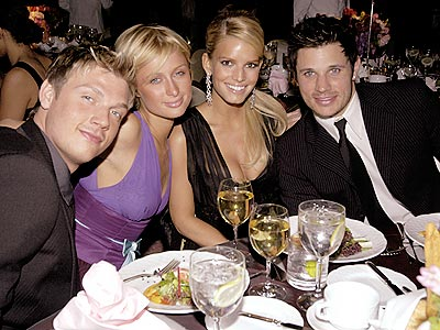 SAY CHEESE photo | Jessica Simpson, Nick Carter, Nick Lachey, Paris Hilton