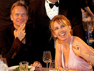 MAN OF THE HOUR photo   Sting, Trudie Styler