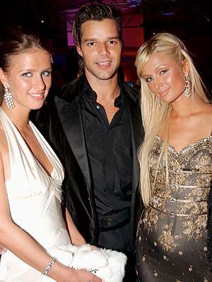 VANITY FAIR PARTY photo | Nicky Hilton, Paris Hilton, Ricky Martin