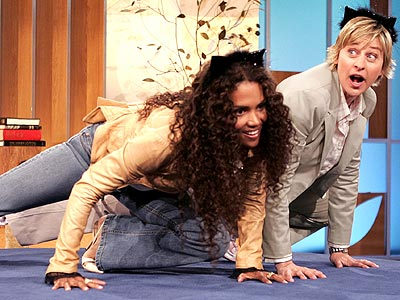 CAT STRETCH  photo | Ellen DeGeneres, Halle Berry