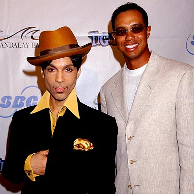 MEN OF THE HOUR photo | Prince, Tiger Woods