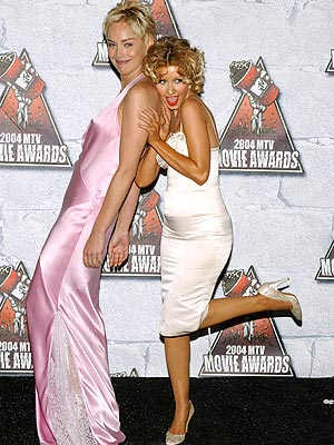 LADIES' NIGHT photo | Christina Aguilera, Sharon Stone