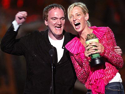 WE WON!  photo | Quentin Tarantino, Uma Thurman