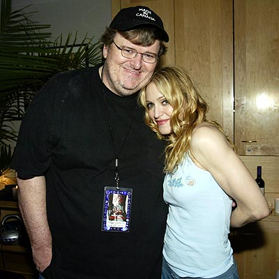 PEAS IN A POD photo | Madonna, Michael Moore