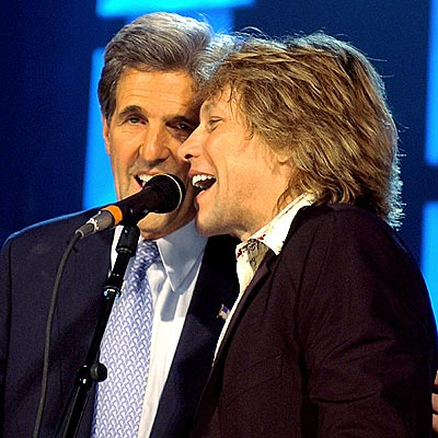 SING-ALONG  photo | John Kerry, Jon Bon Jovi
