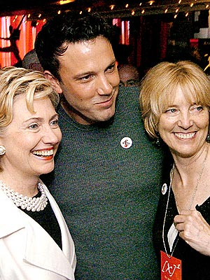 boston party  photo | Ben Affleck, Hillary Rodham Clinton
