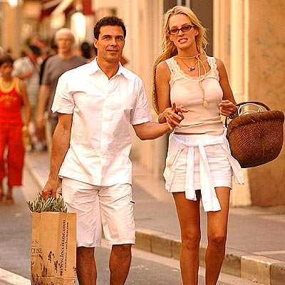 TRAVEL PARTNERS  photo | Andre Balazs, Uma Thurman