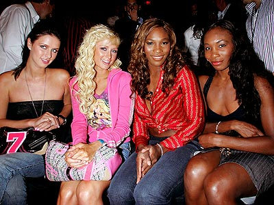 SISTER ACT photo | Nicky Hilton, Paris Hilton, Serena Williams, Venus Williams