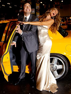 HAIL TAXI photo | Gisele Bundchen, Jimmy Fallon