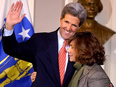 MAKING A CONCESSION photo | John Kerry, Teresa Heinz Kerry