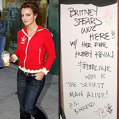 BRITNEY WUZ HERE photo | Britney Spears