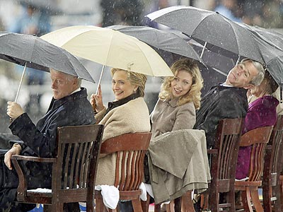 STORMY WEATHER photo | Bill Clinton, Chelsea Clinton, George W. Bush, Hillary Rodham Clinton